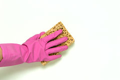 One hand in pink Stock Image