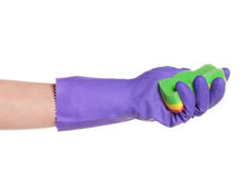 Hand in a glove Royalty Free Stock Photography