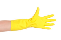 Hand in glove Royalty Free Stock Photos
