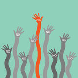 One hand say yes. Illustrator EPS 10 Royalty Free Stock Photos