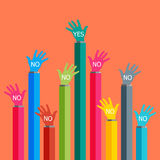 One hand say yes. One hand say yes Vector illustrator EPS 10 Royalty Free Stock Photo