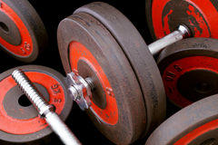 One-handed dumbbell with discs. Stock Photography