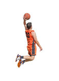 One-handed dunk on white Stock Images