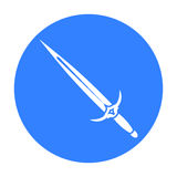 One-handed sword icon black. Single weapon icon from the big ammunition, arms set. One-handed sword icon black. Single weapon icon from the big ammunitio, arms vector illustration