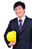 One handsome engineer smiling suits royalty free stock photo