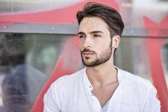 Free One Handsome Young Man In City Setting Stock Image - 109145691