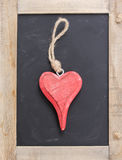 One hanging heart Stock Image