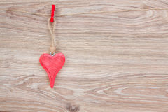 One hanging hearts Stock Photography