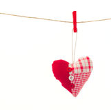 One  hanging red  heart Royalty Free Stock Images