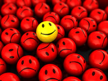 One happy face Royalty Free Stock Images