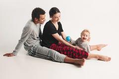 One happy family Stock Image