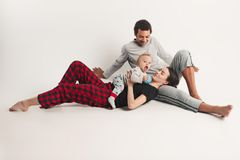 One happy family Stock Images
