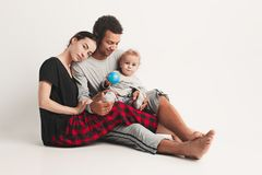 One happy family Royalty Free Stock Photos