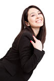 One happy joyful cute business woman Royalty Free Stock Image