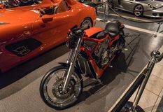 One of Harley Davidson motorcycles at the exhibition in the King Abdullah II car museum in Amman, the capital of Jordan. Amman, Jordan, December 07, 2018 : One stock photo