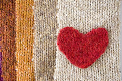 One heart on color. Ful fabric Stock Photos