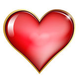 One  heart isolated Stock Photography