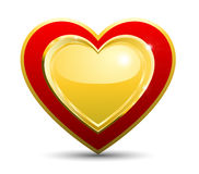 One Heart On A White Background Royalty Free Stock Images