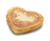 One heart shape flapjack isolated Stock Images