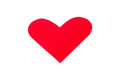 One heart shape from red paper Royalty Free Stock Photography