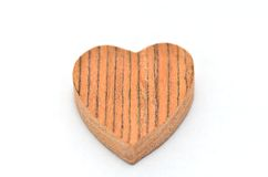 One heart-shaped timber Stock Images