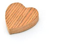 One heart-shaped timber Royalty Free Stock Photo
