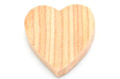 One heart-shaped timber Royalty Free Stock Images