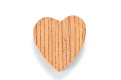 One heart-shaped timber Royalty Free Stock Photography