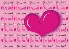 One heart  vector background Stock Image