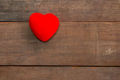 One Hearts on wood Stock Photography