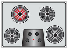 One heater is turned on Stock Images