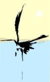 One Heron Royalty Free Stock Photo