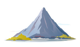 One High Mountain. High mountain with green piedmont, nature landscape, trevel illustration royalty free illustration