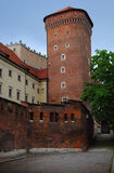 One of the high towers of the Wawel castle stock images