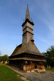 One of the highest wooden churches in Europe, Romania. One of the highest wooden churches in Europe in Surdesti, Romania, Maramures Royalty Free Stock Images