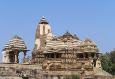 One of the Hindu temples in India's Khajuraho. Stock Image