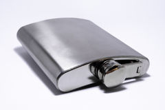 One hip flask Stock Photo