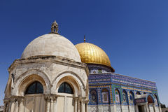 Dome of the Rock. One of the holiest places to the Islam, the Dome Of The Rock in the old city of Jerusalem Royalty Free Stock Photo