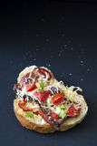 One home made gourmet bruschetta Royalty Free Stock Image
