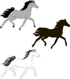 One horse in different styles Royalty Free Stock Photos