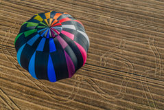 One Hot Air Balloon reunion Stock Photo