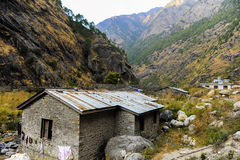 One of the house nea the border of Nepal China Stock Photo