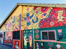 Rainbow village Stock Photo