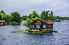 One house on thousand islands. One house on an island Stock Photo