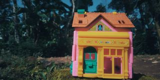 One house toy. toy villa royalty free stock photography