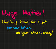 One hug from the right person Royalty Free Stock Images