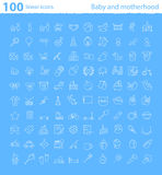 One hundred baby thematic icons Royalty Free Stock Photos