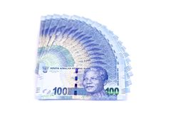 One hundred bank notes Royalty Free Stock Images
