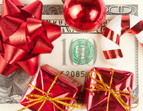 One hundred bill with ornaments Royalty Free Stock Photos