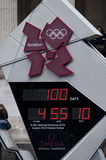 One hundred days to the Olympics Stock Photos
